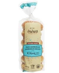 Bread: kamut hamburger (6 units) (frozen)-1